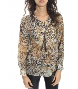 DENNY ROSE Blouse long sleeve ANIMALIER 52DR41006