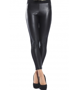 DENNY ROSE Pants leggings slim fit eco-leather BLACK 52DR21018