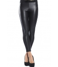 DENNY ROSE Pantalone leggings slim fit ecopelle NERO 52DR21018