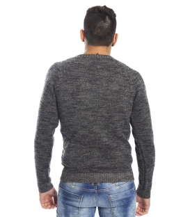 DIKTAT Maglione in lana girocollo FANTASY GREY Art. D77032
