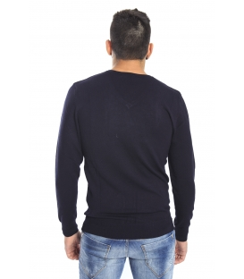 DIKTAT Sweater with v-neck BLUE Art. D77080