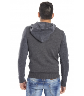 DIKTAT Sweater with hood GREY Art. D77030