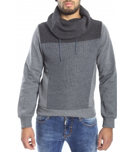 DIKTAT Sweatshirt with wool and pile inside GREY Art. D77221