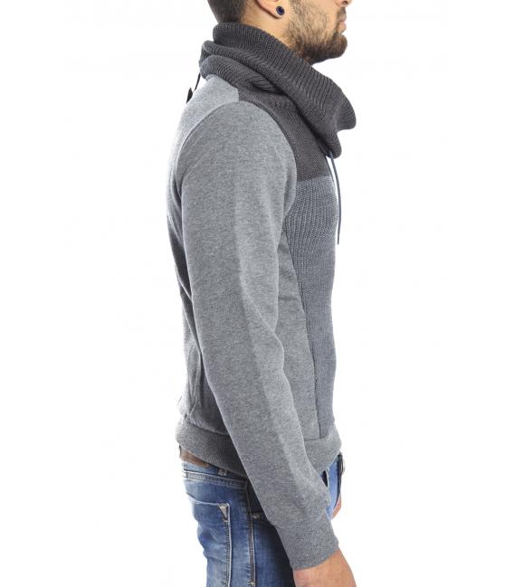 DIKTAT Felpa con collo in lana e pile interno GRIGIO Art. D77221