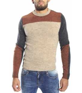 DIKTAT Sweater crew-neck COLORS Art. D77046 made in Italy