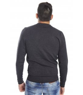 DIKTAT Sweater with pocket FANTASY BLACK D77087 Made in Italy