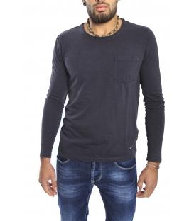 Gaudi Jeans - Maglia girocollo con taschino DARK GREY 52bu67186