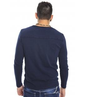 Gaudi Jeans - Maglia girocollo con taschino BLUE 52bu67186