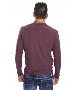 Gaudi Jeans - Maglia girocollo con bottoni BORDEAUX 52bu67185