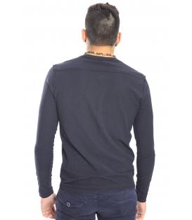 Gaudi Jeans - Maglia girocollo con bottoni BLACK 52bu67185