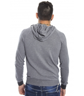 Gaudi Jeans - Sweatshirt with hood and print GREY 52bu56048