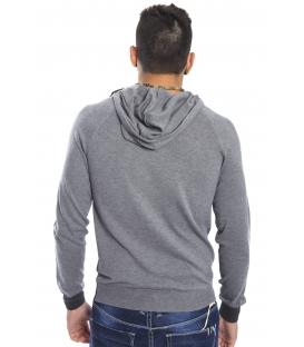 Gaudi Jeans - Felpa con cappuccio e stampa GRIGIO 52bu56048