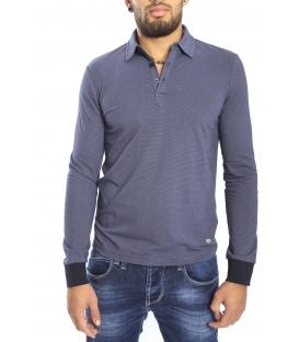 Gaudi Jeans - Camicia / Polo con bottoni FANTASY BLUE 52bu67194