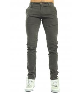 GRAFFIO Pantalone cinos microfantasia elasticizzato FANGO WGU90