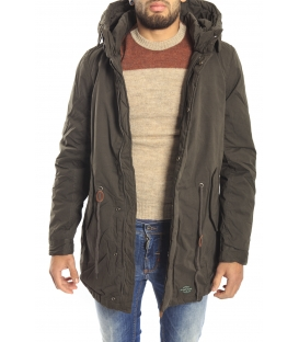 HOMEWARD Parka con cappuccio zip e clips OLIVE Art. HMC310