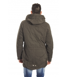 HOMEWARD Parka with hood zip and clips OLIVE Art. HMC310