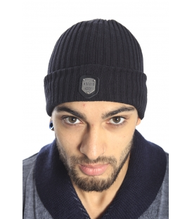 Antony Morato Hat with logo in cotton BLACK MMHA00103