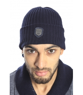Antony Morato Hat with logo in cotton BLUE MMHA00103