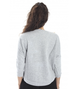 ALMAGORES Sweatshirt with necklace GREY Art. 541AL60613