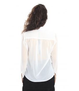 ALMAGORES Shirt georgette with bow WHITE Art. 541AL40402