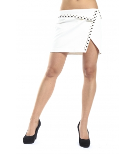 ALMAGORES Studded mini skirt WHITE Art. 541AL70751