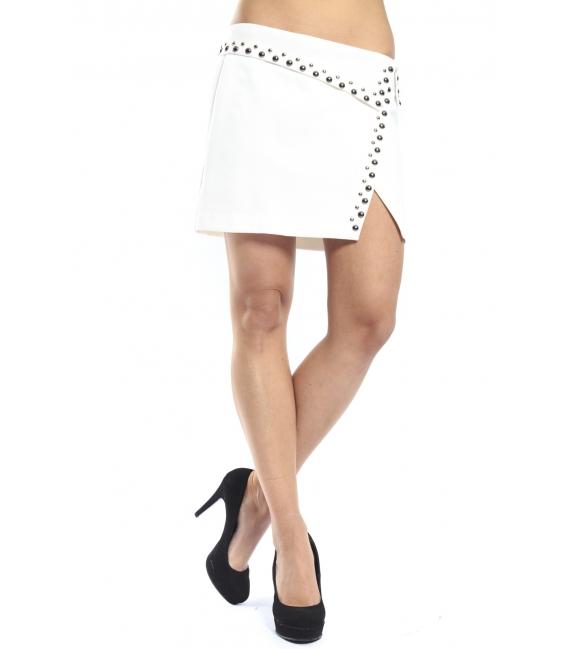 ALMAGORES Studded mini skirt WHITE Art. 541AL70751