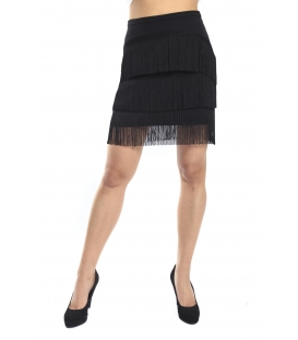 ALMAGORES Fringe skirt BLACK Art. 541AL70759