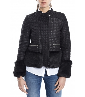 ALMAGORES Quilted short down jacket BLACK Art. 541AL30305