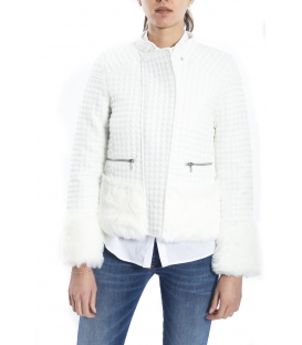 ALMAGORES Quilted short down jacket WHITE Art. 541AL30305