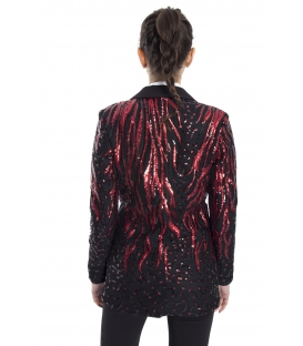 ALMAGORES Jacket sequined blazer BLACK Art. 541AL30314