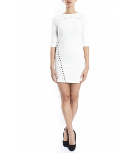 ALMAGORES Studded dress WHITE Art. 541AL10003