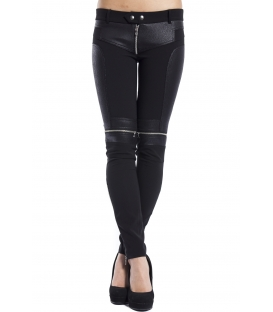 ALMAGORES Trousers biker in eco-leather with zip BLACK Art. 541AL20102