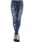 ALMAGORES Skinny dark jeans with rips DENIM Art. 541AL26204