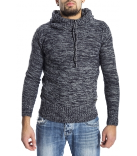 GRAFFIO Sweat with hood with wool BLUE/GREY Art. WGU134