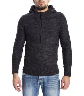 GRAFFIO Sweat with hood with wool DARK GREY /BLACK Art. WGU134