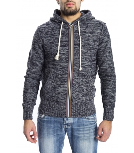 GRAFFIO Sweater with zip and hood GREY Art. WGU133