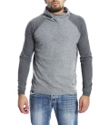 Gaudi Jeans - Maglia bicolor con collo GREY 52BU56060