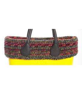 Bordo in lana multicolor Fullspot O'Bag Mini ciliegia-verde