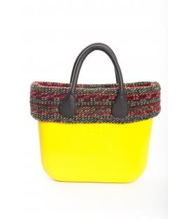 Fullspot O'Bag Mini borsa completa Lime con bordo lana