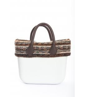 Fullspot O'Bag Mini borsa completa Neve con bordo lana