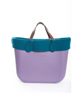Fullspot O'Bag Standard borsa completa Viola con bordo in feltro Petrolio