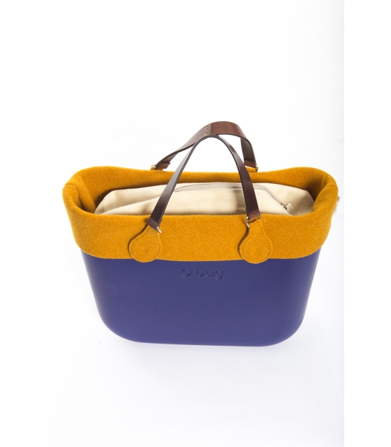 6deda533ec Fullspot O'Bag Standard borsa completa Blu iris con bordo in feltro Senape