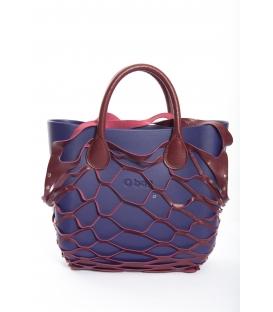 Fullspot O'Bag Mini borsa completa Blu iris con cover rete Bordeaux