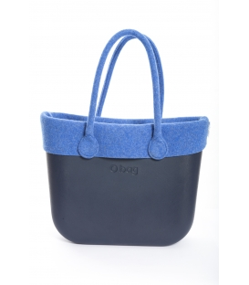 Fullspot O'Bag Standard borsa completa Blu Navy con bordo e manici in feltro Blu avio