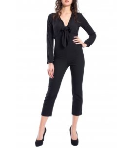 DENNY ROSE Jumpsuit with V-neck BLACK 52DR22004