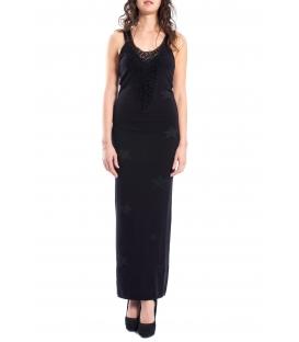 DENNY ROSE Long dress with stars BLACK 52DR52007
