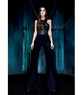 DENNY ROSE Jumpsuit with lace BLACK 52DR22002