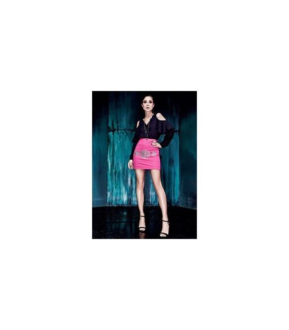 DENNY ROSE Shirt/Blouse with voulant BLACK 52DR42001
