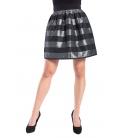 DENNY ROSE Skirt with stripes BLACK 52DR72003