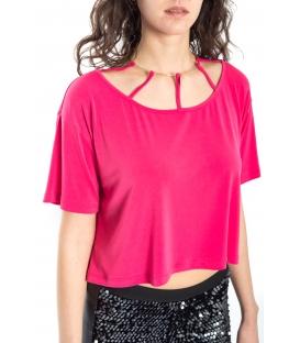 DENNY ROSE T-shirt maniche corte FUXIA 52DR62000